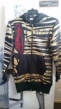 WOMEN ED HARDY by CHRISTIAN AUDIGIER HOODIE JACKET/COAT  Black/GOLD  FESTIVAL M