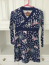 NWT Tea Collection Long Sleeve Wrap Cotton Dress, Blue Butterfly Size 12