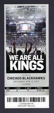 2016-2017 NHL BLACKHAWKS @ KINGS FULL UNUSED HOCKEY TICKET -BOB MILLER LAST GAME