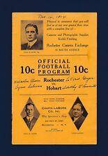 Rochester Yellowjackets vs Hobart Deacons 1914 football program and ticket stub