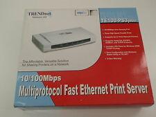 Trendnet Te100-ps3plus 10/100 Mbps Multiport Fast Ethernet Print Server