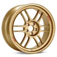 17x8 Enkei RPF1 5x100 +45 Gold Rims Fits Impreza Tc Corolla