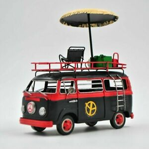 Jayland Black & Red Two Tone Classic VW Decorative Bus 1/24 Diecast Microbus Art