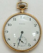 E. Howard 12 Size Gold Filled Open Face 17 Jewel 1913 Pocket Watch Runs LW158