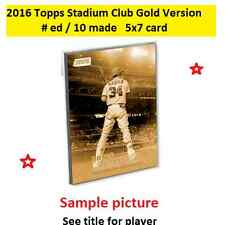 ANDREW MILLER Yankees #86 2016 Topps Stadium Club 5X7 Gold Version #ed/10 Made