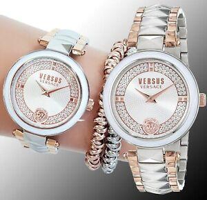 Versus Versace Women's Watch VSPCD2517 Covent Garden Swarovski Two Colored New