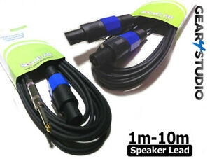 Speaker Cable lengths 1m 2m 3m 4m 5m 6m 10m SPK-ON and 6.35 Jack free Delivery