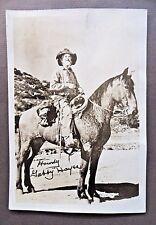 vintage GABBY HAYES on HORSEBACK Cowboy Western movie actor photo