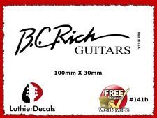 BC Rich Guitar Decal Headstock Decal Waterslide Inlay Logo 141b