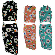 Unbranded Calf Length Polyester Floral Skirts for Women