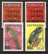 Suriname - 1987 Definitives overprinted / Birds - Mi. 1201-04 VFU