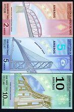 SET Federation of North America, 2;5;10 Ameros, 2011, Polymer, UNC