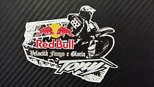 Tony Cairoli 222 red bull adesivo stickers tributo adesivi MX1
