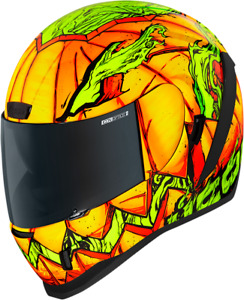 Icon Airform Trick or Street Unisex Fullface Motorcycle Riding Racing Helmet