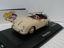 """Schuco 02569 - Porsche 356 A Cabrio Bj. 1956 in """" beige """" mit Surfbrett 1:43 NEU"""