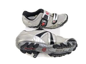 Pearl iZumi Womens US 7 EUR 38 Red Silver I Beam Cycling Shoes (5083)