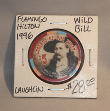 Legends of the West, Wild Bill Hickok - Limited 1996 Edition $5 Casino Chip rare