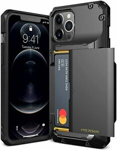 VRS DESIGN Damda Glide Pro Compatible for iPhone 12 Max Case, with Black