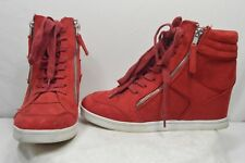 Rock&Republic Kyler Red Fashion Casual Dress Comfort Sneaker Wedge Heels Size 8