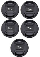 ICE Front Lens Cap 5 Pack Snap-on 58mm 62mm 67mm 72mm 77mm 82mm 95mm