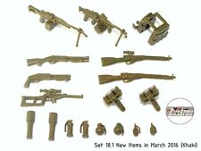 Set 18.1 New Items in March 2016 (Khaki) RusArms, Weapons for LEGO minifigs