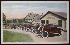 Intervale NH White Mts. Pitman's Cottage & Garage Mt. Washington Valley Postcard
