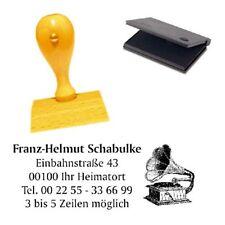 Adressenstempel « GRAMMOPHON » mit Kissen - Firmenstempel - Grammofon Vinyl