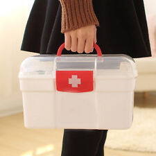 2 Layers Health Pill Medicine Chest First Aid Kit Case Storage Box Container