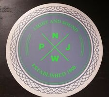 Pearl Jam LightSound Vinyl Sticker Official PJNW Light and Sound Round