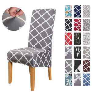 6PCS Stretch Chair Covers Morocco Banquet Dining Room Extra Large Seat Slipcover