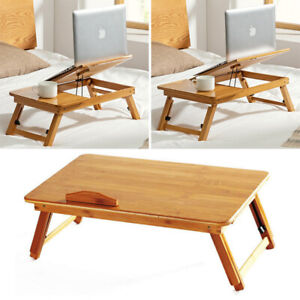 Bamboo Portable Folding Legs Laptop Notebook Table Bed Sofa Tray PC Desk Stand
