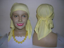 LADIES COTTON BANDANA LEMON, IDEAL GIFT FOR CHEMO PATIENT OR ALOPECIA SUFFERER!