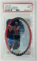1996 UD SPX RECORD BREAKER Michael Jordan #R1, Die Cut, Hologram, Graded PSA 9