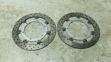 07 Yamaha XVS 1300 XVS1300 A Midnight V Star front brake rotors disks