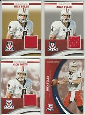 NICK FOLES RAINBOW LOT (4) DIFFERENT 2016 ARIZONA JERSEY GOLD #D /25 SILVER /99