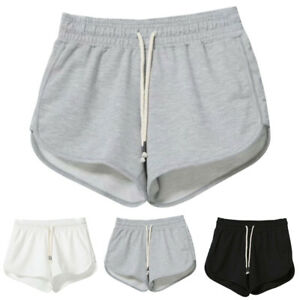 Women Elastic Waisted Drawstring Hot Pants Sports Loose Casual Shorts Plus Size
