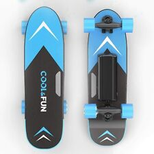 Cool & Fun Electric Skateboard With Remote, 150W Brushless Motor, Blue