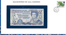 Banknotes of All Nations Falkland 1984 1 Pound Unc P13 Prefix A