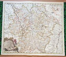 XVIII ème - La Lorraine Belle Carte par Gerard Valk 61 x 52,2 cm  Editée en 1710