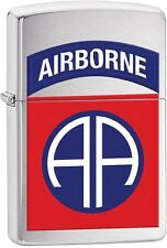 Zippo 2016 Catalog NEW US Army 82nd Airborne, Brushed Chrome Lighter 29181