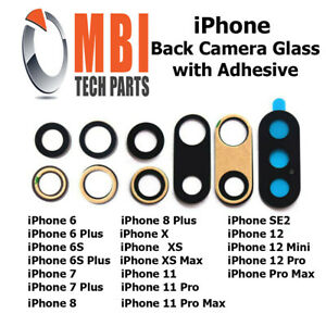 iPhone 6 7 8 Plus SE2 X XR XS 11 Pro Max 12 Back Camera Glass Rear Lens Adhesive