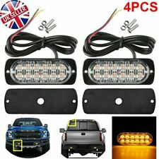 4X 12LED Car Truck Warning Caution Emergency Beacon Flash Grill Tail Work Lights