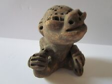 ANTIQUE SOUTH AMERICAN RELIC STATUE SCULPTURE MONKEY ? PRIMITIVE ICONIC FORM OLD