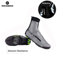 RockBros Cycling Reflective Shoes Covers Winter Warm Overshoes Waterproof