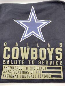 Nike Dallas Cowboys Salute To Service Long Sleeve Men's Black Shirt Size XL 2020
