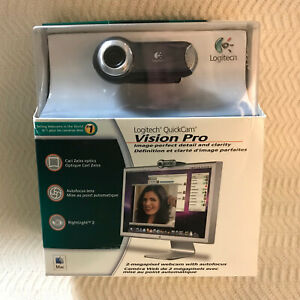Logitech QuickCam Vision Pro Carl Zeiss Optics 2MP Microphone for MAC Open Box