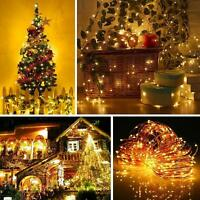 5M 10M USB LED Copper Wire String Fairy Light Strip Lamp Waterproof Music Remote