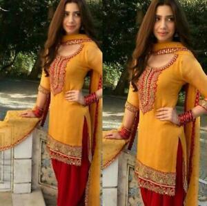Stitched Punjabi Suit Salwar Kameez Indian Designer Patiala Shalwar Dress Wear