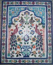 large decorative handmade painted ceramic tiles arabic backsplash mosaic panel