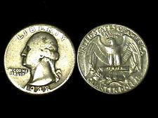 (1) 90% SILVER GEORGE WASHINGTON QUARTER 1964 & PREV + 99.9% 24K GOLD $100 BILL